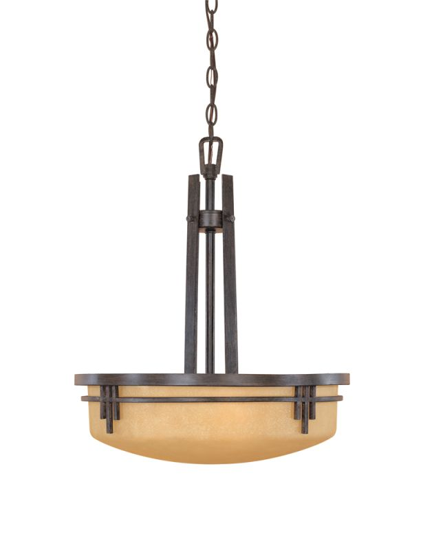 Designers Fountain 82131 Asian Three Light Down Lighting Bowl Pendant