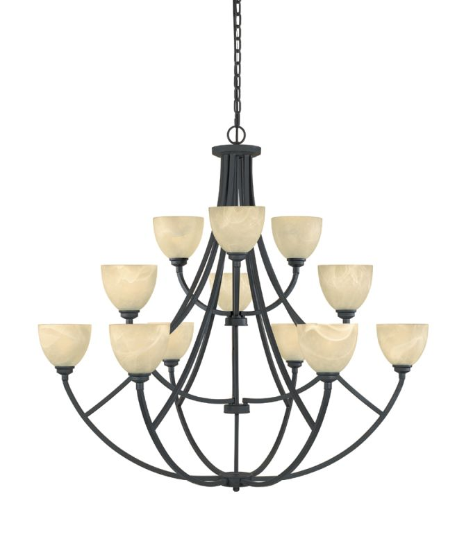 Designers Fountain 829812 12 Light Chandelier from the Tackwood