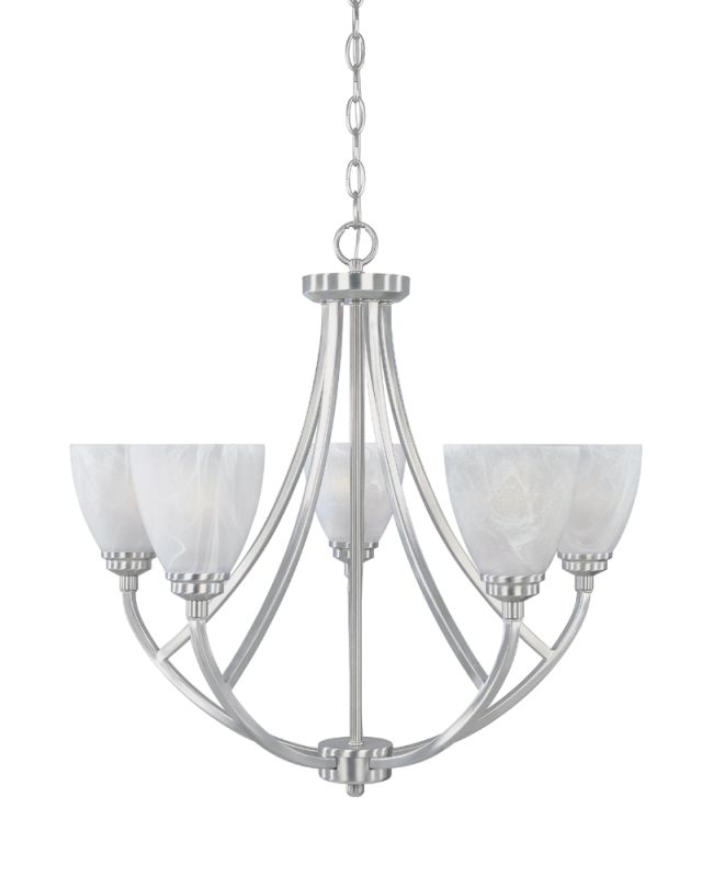 Designers Fountain 82985 5 Light Chandelier from the Tackwood