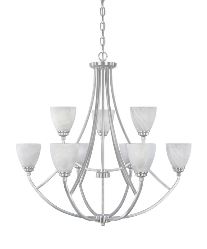 Designers Fountain 82989 9 Light 2 Tier Chandelier from the Tackwood