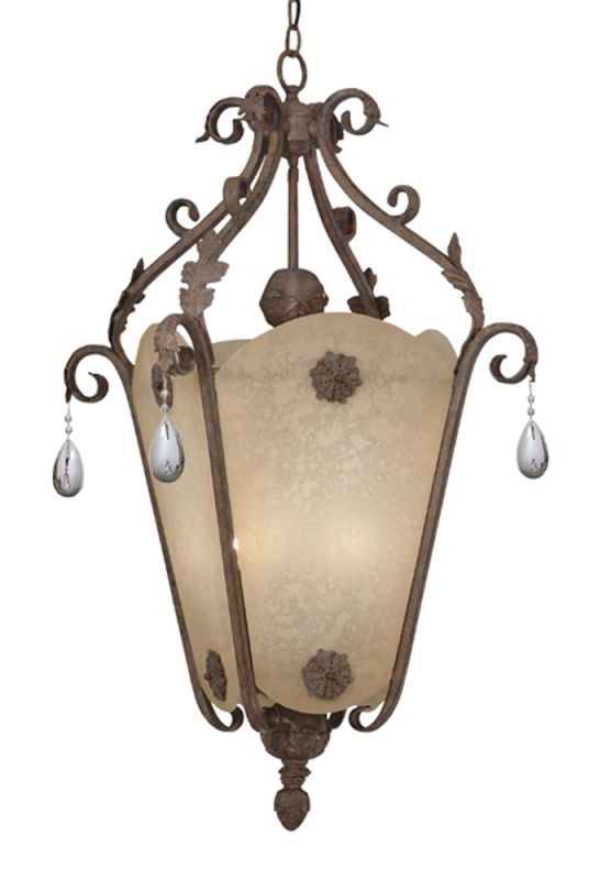 Designers Fountain 9148-AO 6 Light Foyer with Crystal Drops from the