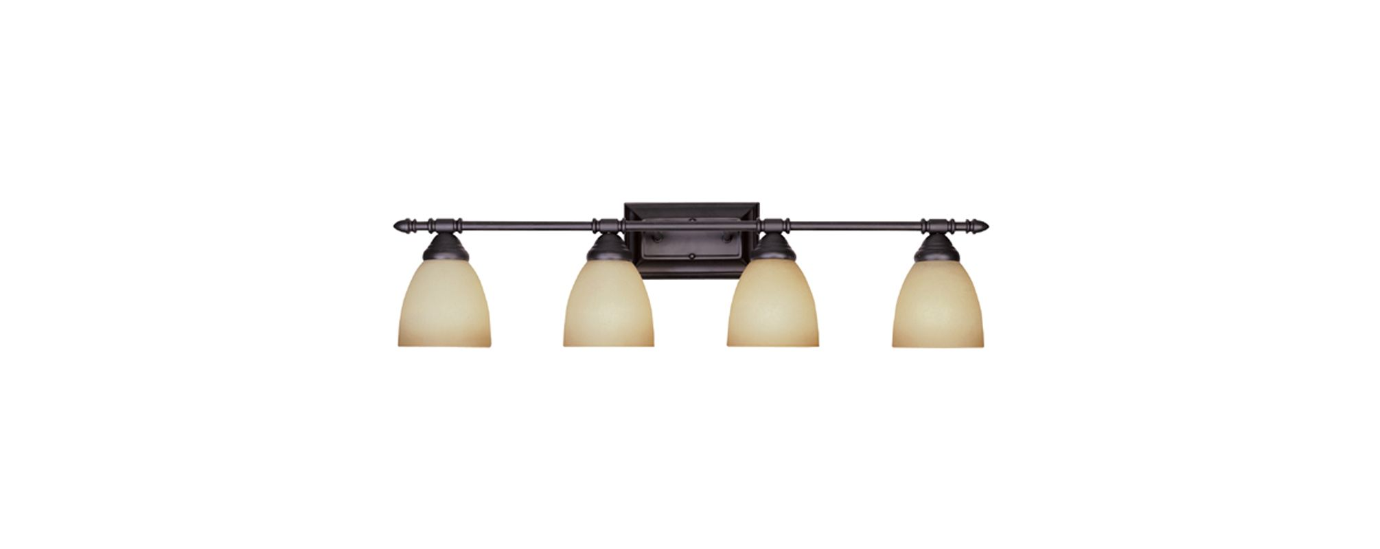 "Designers Fountain 94004 Four Light Down Lighting 31.25"" Wide Bathroom"