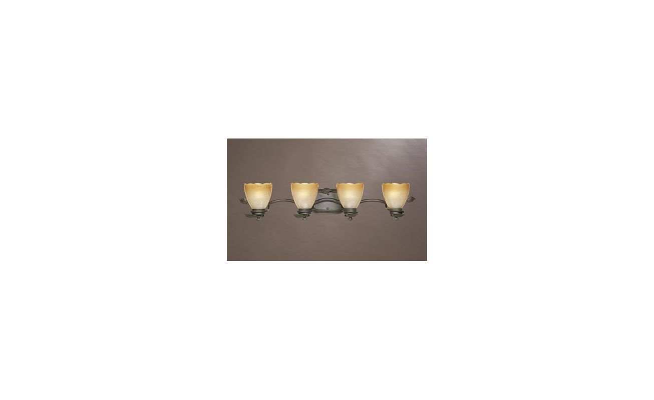 "Designers Fountain 95604 Four Light Up Lighting 34"" Wide Bathroom"
