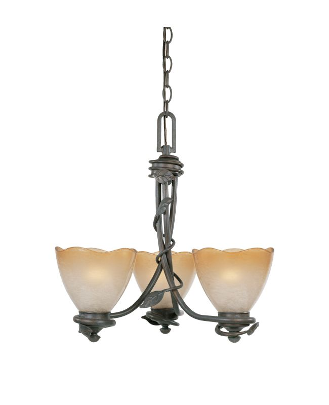 Designers Fountain 95683 Three Light Up Lighting Mini Chandelier from