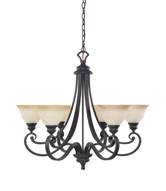 Designers Fountain 96186 Six Light Up Lighting Chandelier from the Sale $339.50 ITEM: bci881599 ID#:96186-NI UPC: 46335939264 :