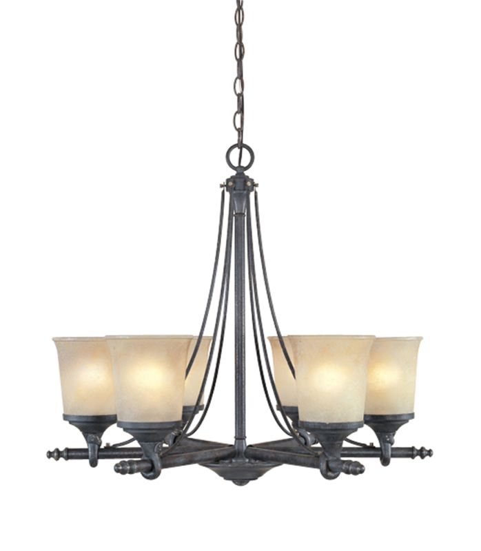 Designers Fountain 97386 Six Light Up Lighting Chandelier from the