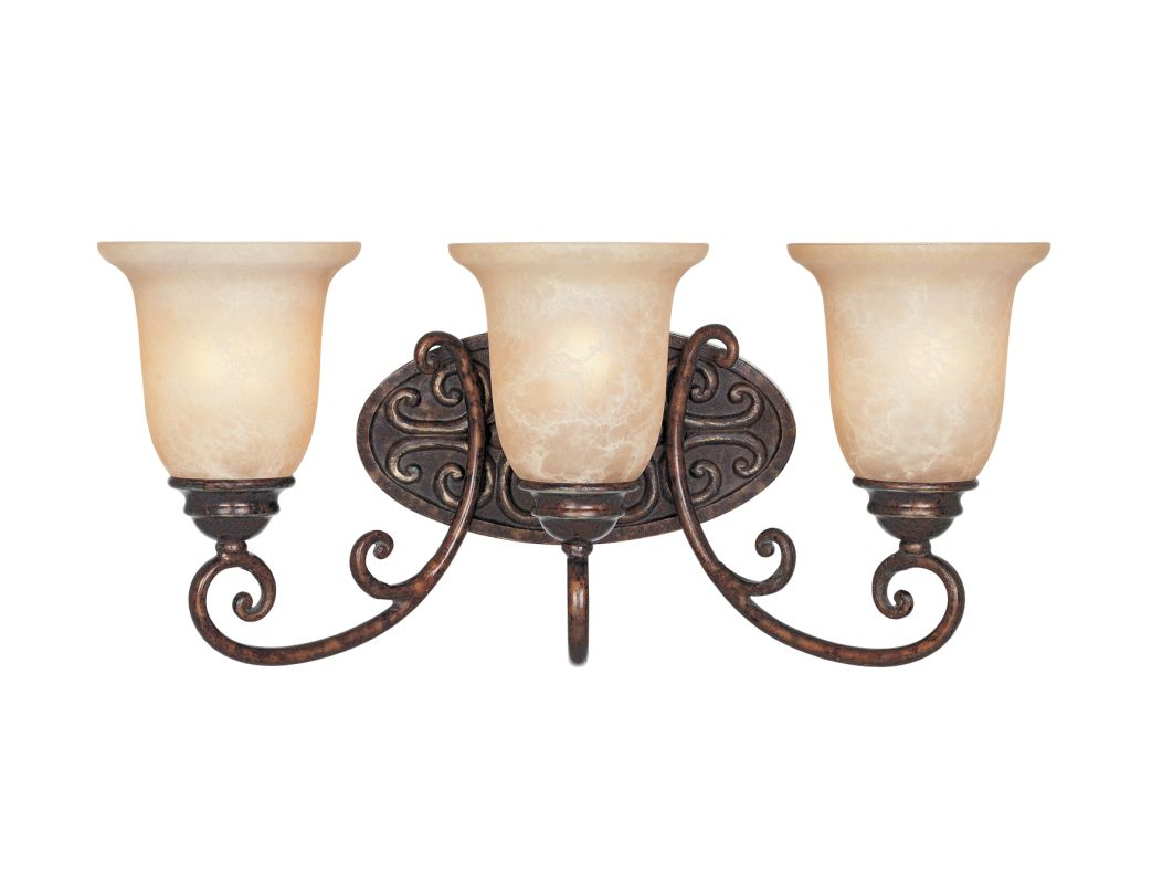 "Designers Fountain 97503 Three Light Down Lighting 22"" Wide Bathroom"