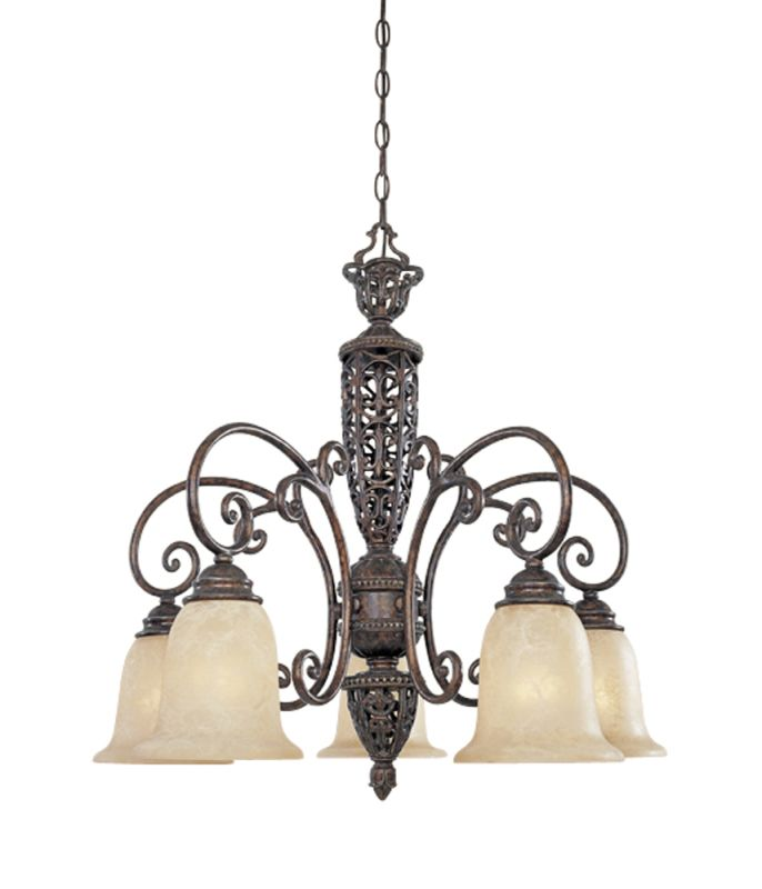 Designers Fountain 97586 Five Light Down Lighting Chandelier from the Sale $538.00 ITEM: bci805835 ID#:97586-BU UPC: 46335913271 :