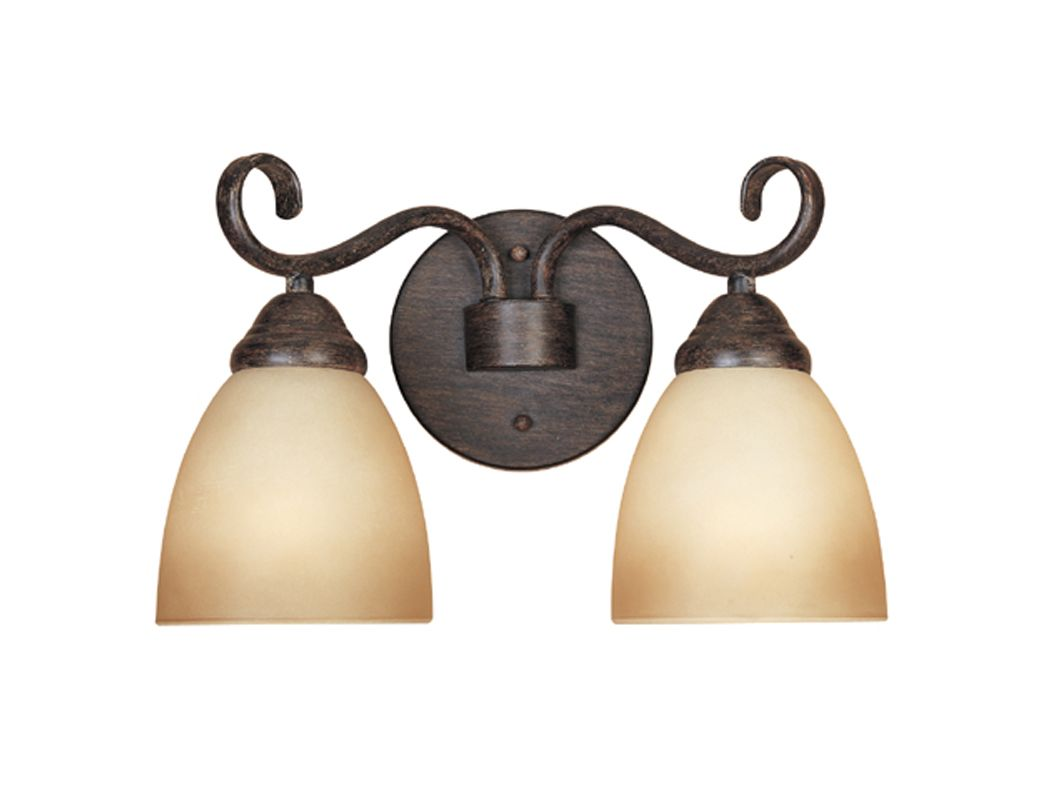 "Designers Fountain 98002 Two Light Down Lighting 13.5"" Wide Bathroom"