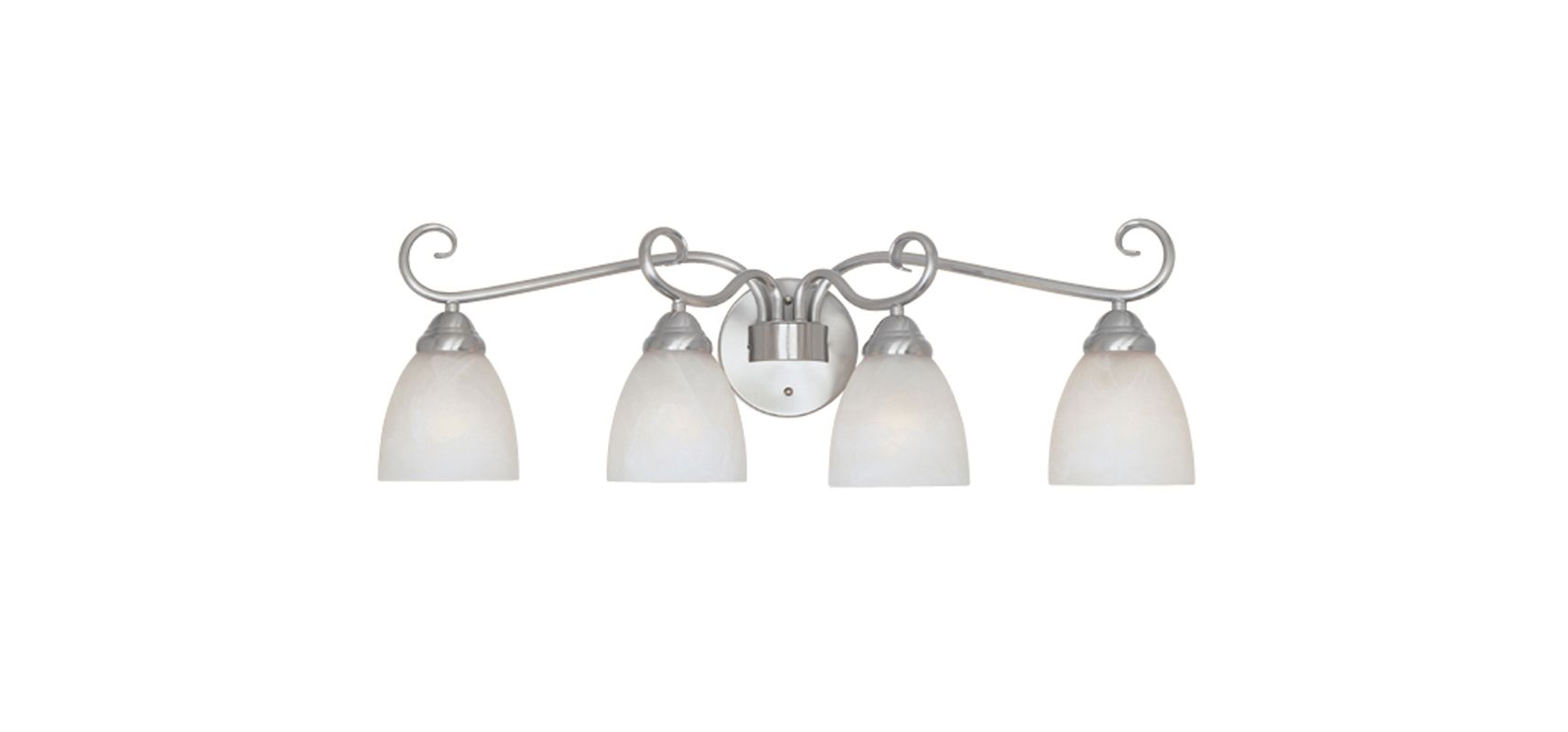 "Designers Fountain 98004 Four Light Down Lighting 29.75"" Wide Bathroom"