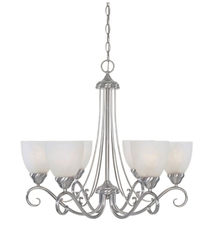 Designers Fountain 98086 Six Light Up Lighting Chandelier from the Sale $188.55 ITEM: bci805929 ID#:98086-SP UPC: 46335912892 :