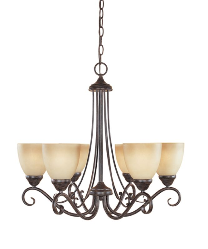 Designers Fountain 98086 Six Light Up Lighting Chandelier from the Sale $188.55 ITEM: bci805930 ID#:98086-WM UPC: 46335917439 :