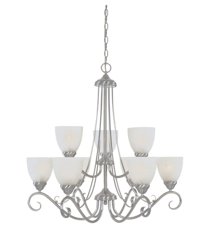 Designers Fountain 98089 Nine Light Up Lighting Two Tier Chandelier Sale $376.20 ITEM: bci805932 ID#:98089-SP UPC: 46335912915 :