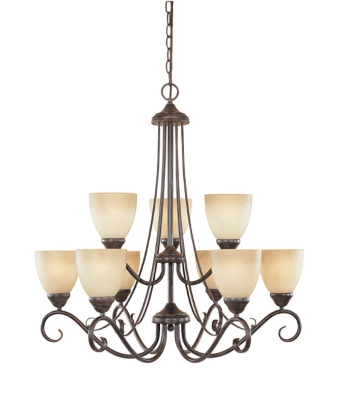 Designers Fountain 98089 Nine Light Up Lighting Two Tier Chandelier Sale $376.20 ITEM: bci805933 ID#:98089-WM UPC: 46335917446 :
