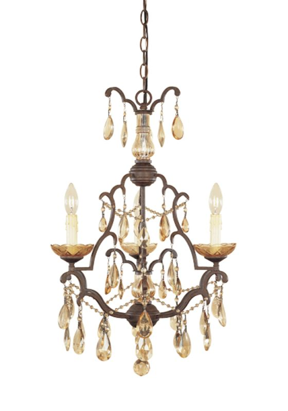 Designers Fountain 98383 Three Light Up Lighting Mini Chandelier from