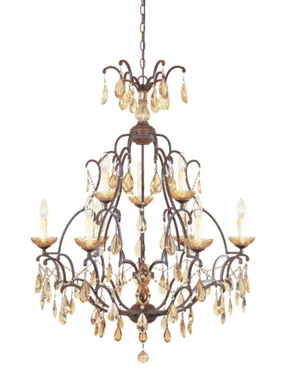 Designers Fountain 98389 Nine Light Up Lighting Two Tier Chandelier Sale $488.00 ITEM: bci805959 ID#:98389-VBR UPC: 46335912731 :