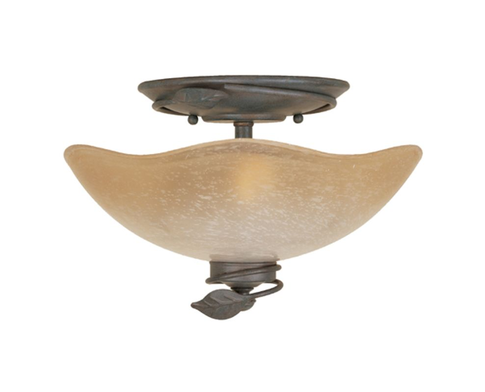 Decorative Star Ceiling Light Semi Flush Bathroom Fixture: Designers Fountain 95621-OB Old Bronze Timberline Two