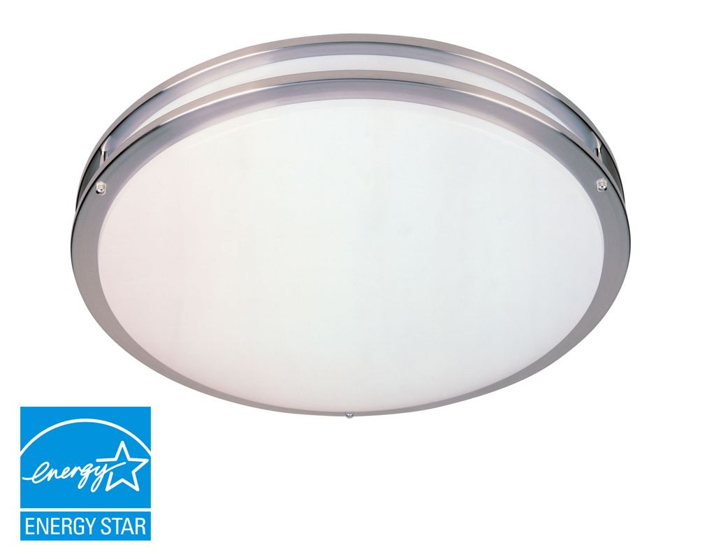 Designers Fountain S117MCFL Nickel Contemporary Round Ceiling Light Sale $159.50 ITEM: bci806280 ID#:S117MCFL-SN UPC: 46335932319 :