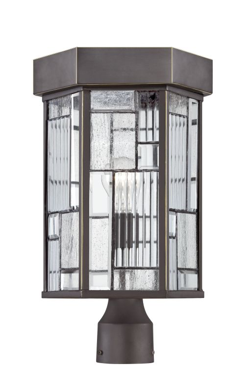 Designers Fountain 32136 Kingsley 1 Light Lantern Post Light Aged