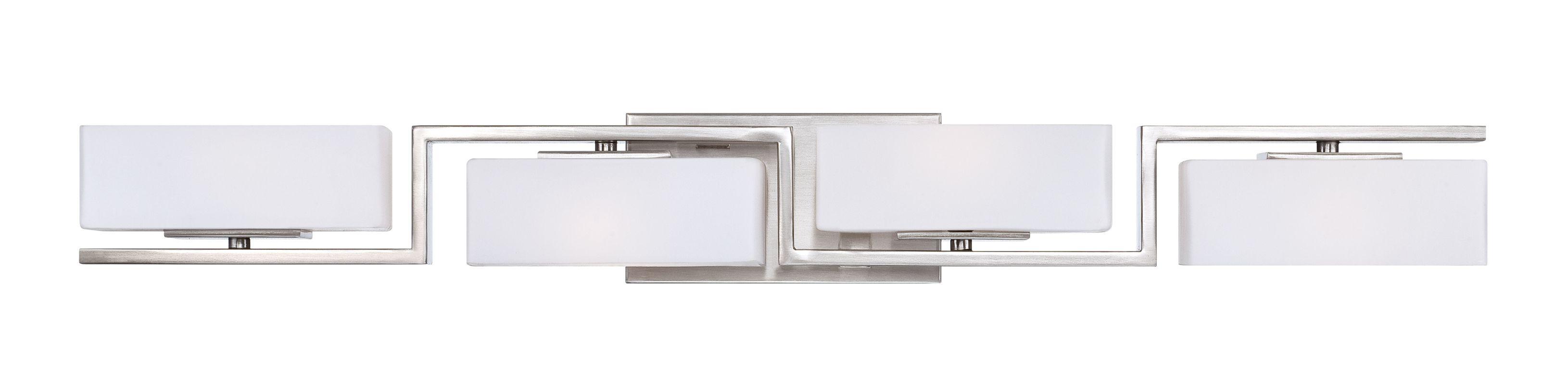 Designers Fountain 6714 Platinum Contemporary Meridian Bathroom Light