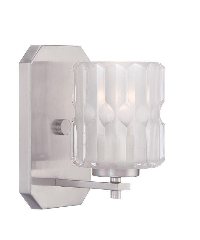 Designers Fountain 67601 Valeta 1 Light Bathroom Sconce Satin Platinum