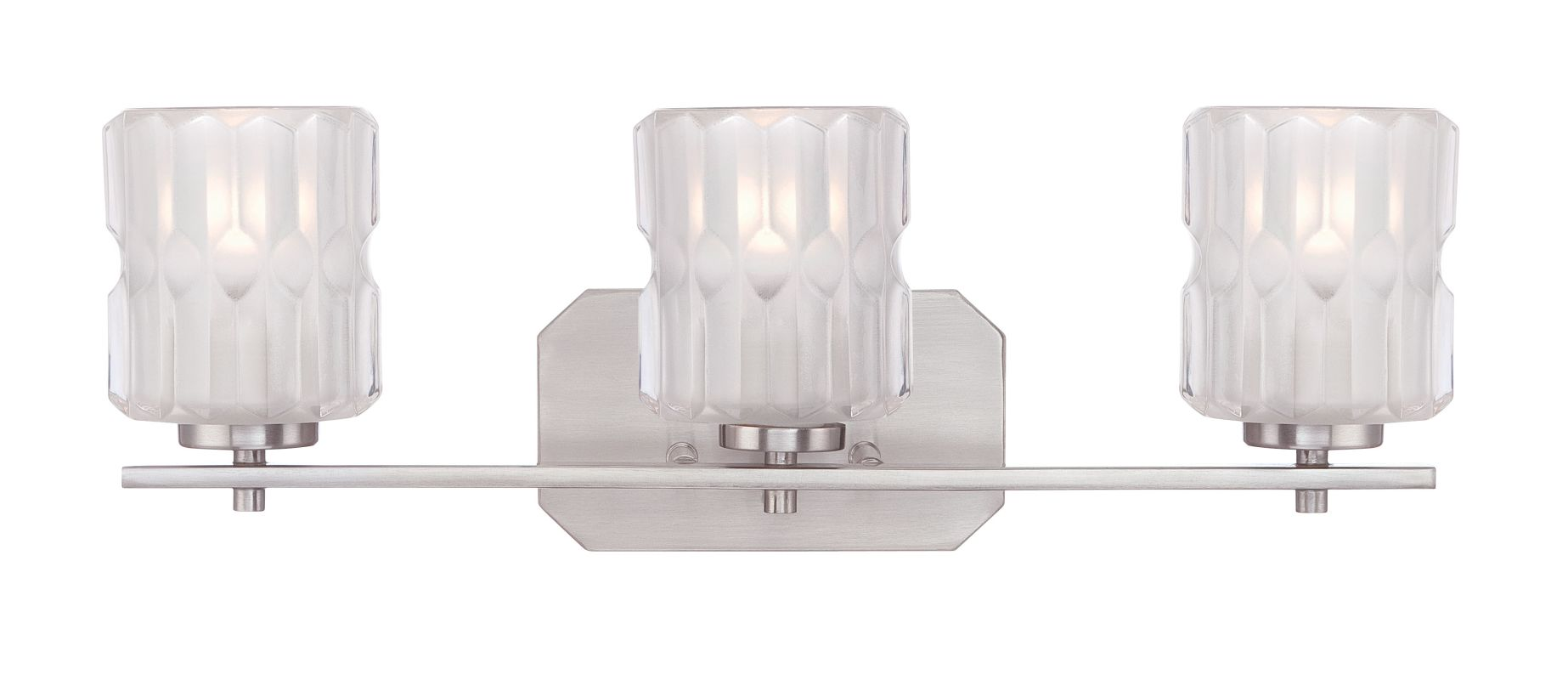 Designers Fountain 67603 Valeta 3 Light Vanity Light Satin Platinum