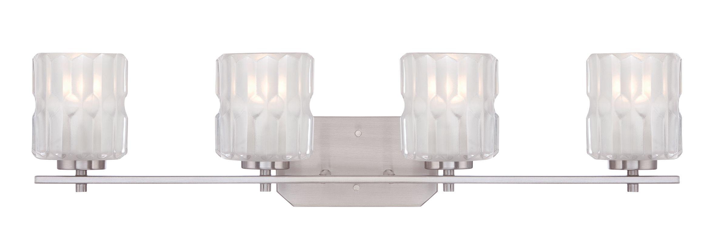 Designers Fountain 67604 Valeta 4 Light Vanity Light Satin Platinum