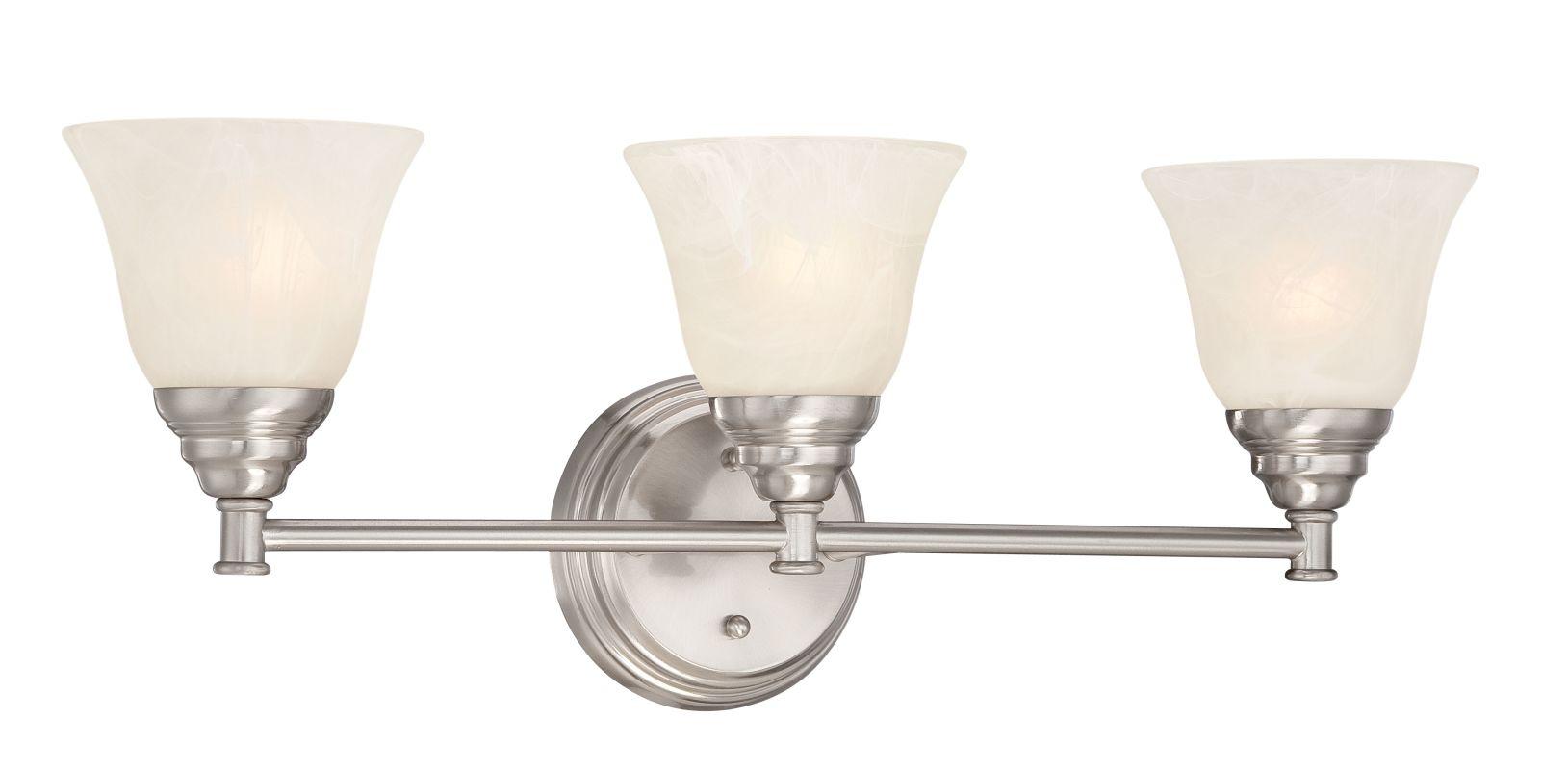 Designers Fountain 85103 Kendall 3 Light Vanity Light Satin Platinum