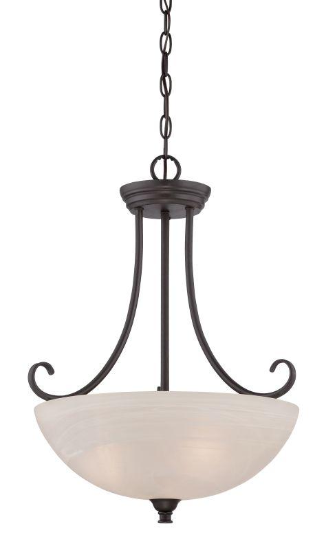 Designers Fountain 85131 Kendall 3 Light Bowl Shaped Pendant Oil