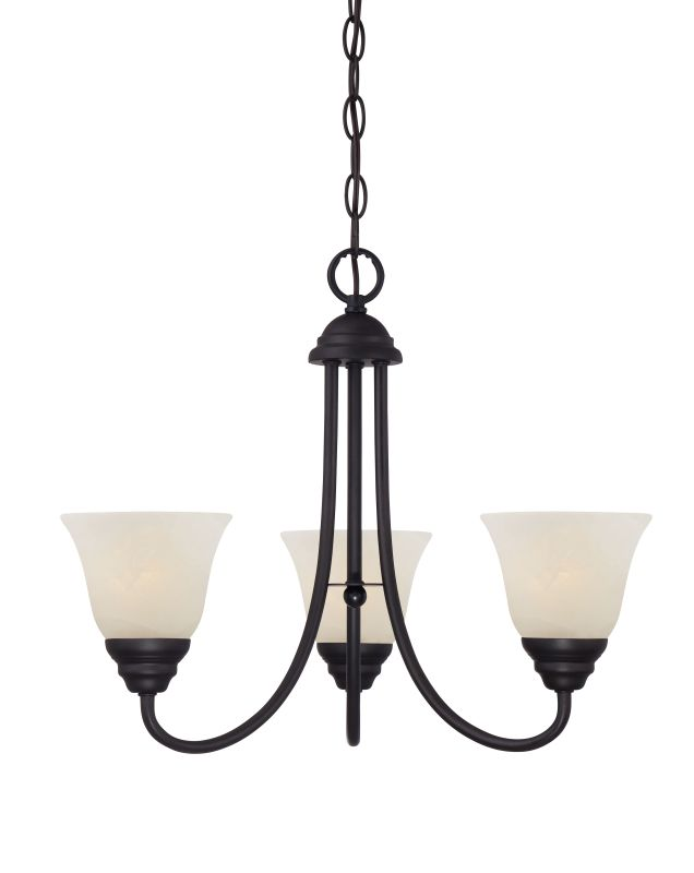 Designers Fountain 85183 Kendall 3 Light 1 Tier Mini Chandelier Oil