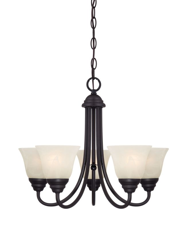 Designers Fountain 85185 Kendall 5 Light 1 Tier Mini Chandelier Oil