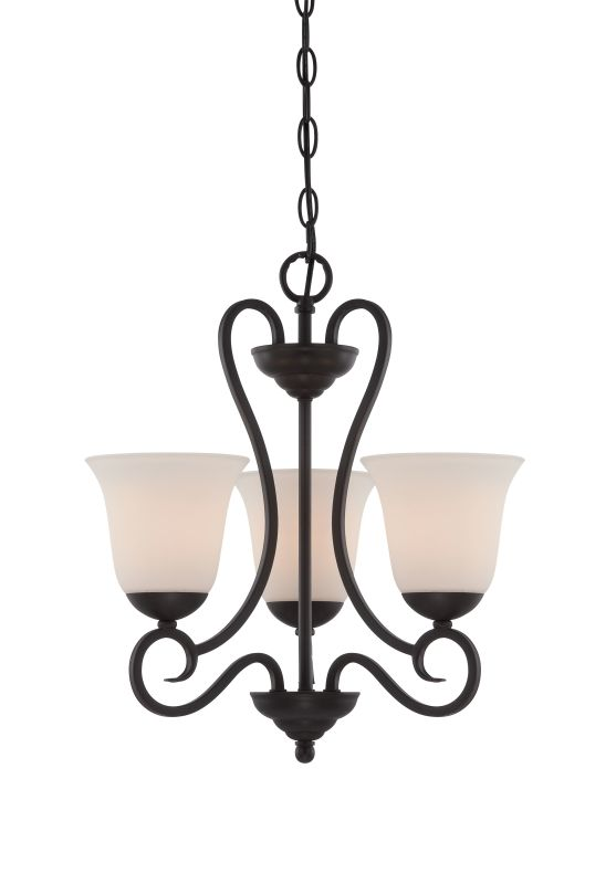 Designers Fountain 85283 Addison 3 Light 1 Tier Mini Chandelier Oil