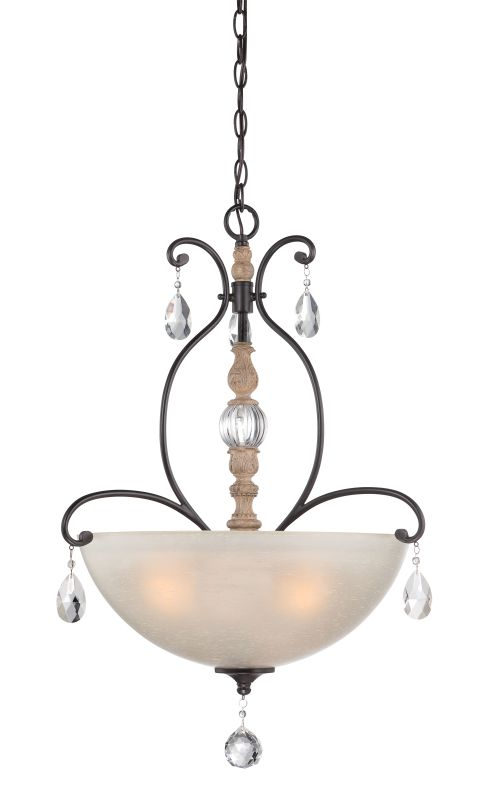 Designers Fountain 85331 Bella Maison 3 Light Bowl Shaped Pendant