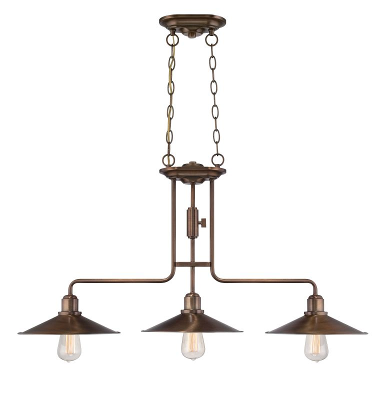 Designers Fountain 85438 Newbury Station 3 Light Cone Chandelier Old