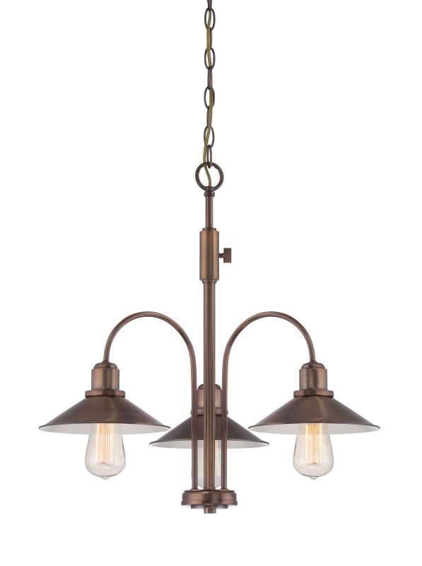 Designers Fountain 85483 Newbury Station 3 Light 1 Tier Chandelier Old