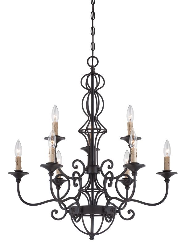 Designers Fountain 85589 Tangier 7 Light 2 Tier Candle Style