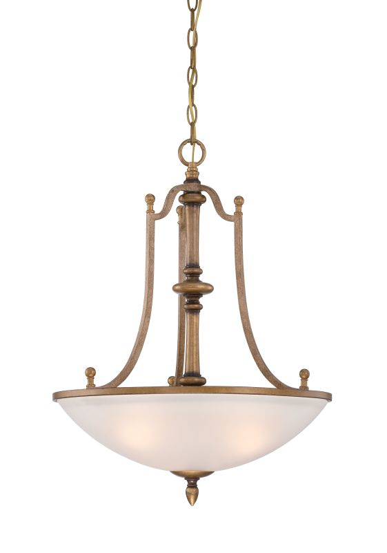 Designers Fountain 85631 Isla 3 Light Bowl Shaped Pendant Aged Brass