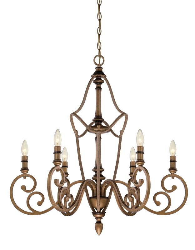 Designers Fountain 85686 Isla 6 Light 1 Tier Candle Style Chandelier