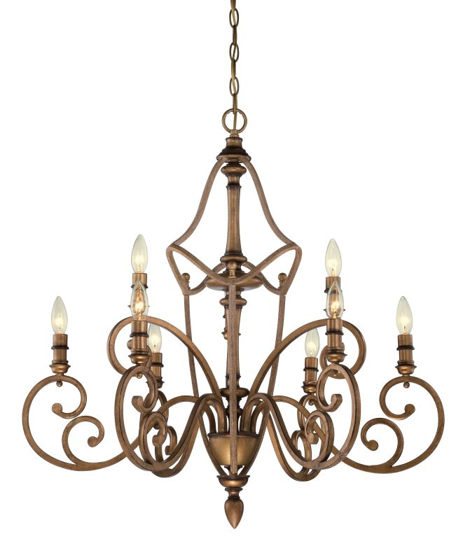 Designers Fountain 85689 Isla 9 Light 2 Tier Candle Style Chandelier