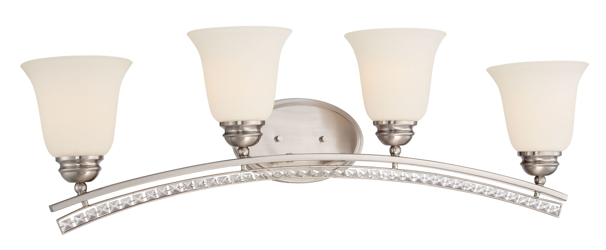 Designers Fountain 85704 Grand Plazza 4 Light Vanity Light Satin Sale $233.55 ITEM: bci2558070 ID#:85704-SP UPC: 46335979161 :