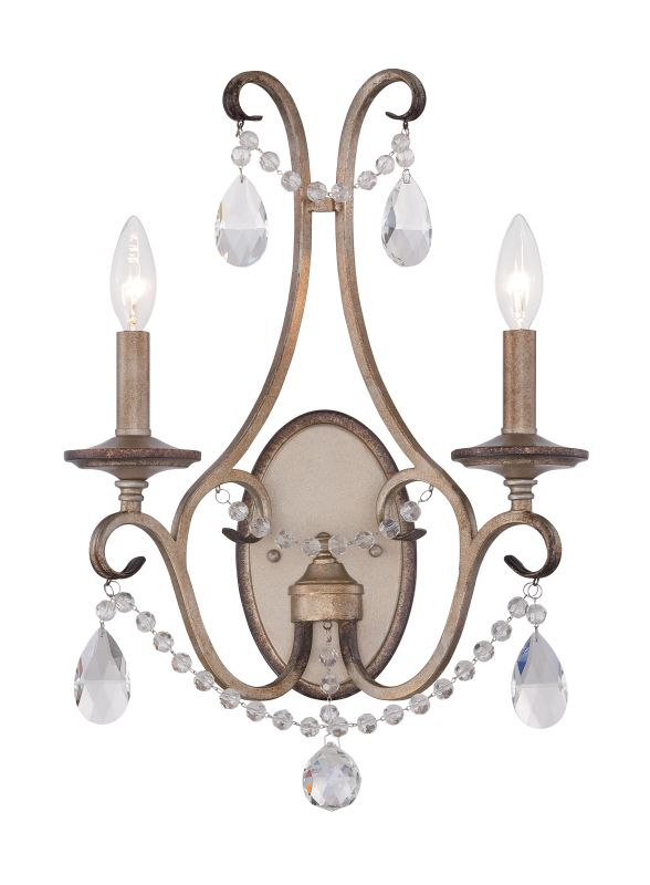 Designers Fountain 86002 Gala 2 Light Candle-Style Double Wall Sconce