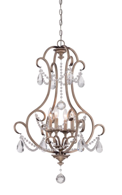 Designers Fountain 86054 Gala 4 Light 1 Tier Crystal Chandelier - 36""