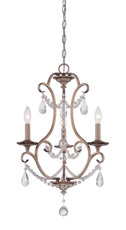 Designers Fountain 86083 Gala 3 Light 1 Tier Mini Crystal Chandelier -