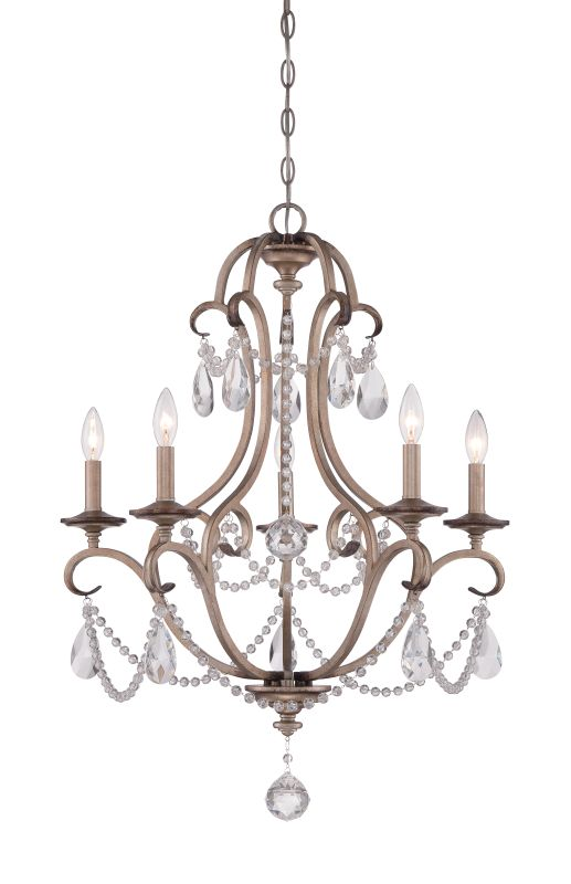 Designers Fountain 86085 Gala 5 Light 1 Tier Crystal Chandelier - 36""