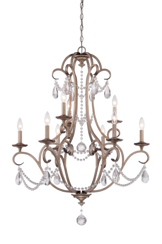 Designers Fountain 86089 Gala 9 Light 2 Tier Crystal Chandelier - 120""