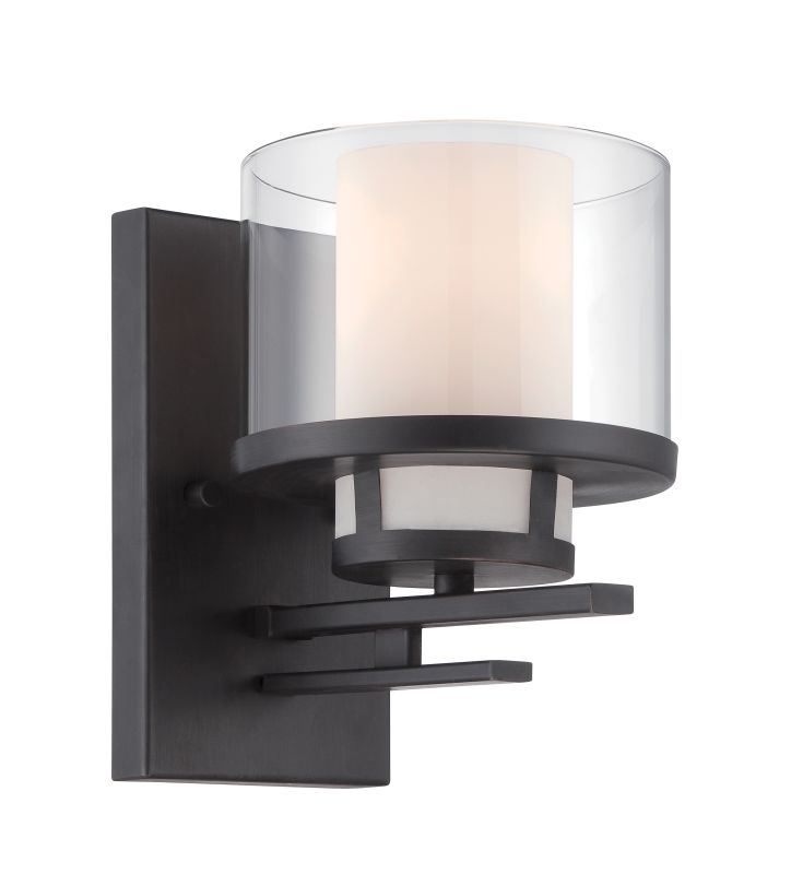 Designers Fountain 86101 Fusion 1 Light Bathroom Sconce Biscayne