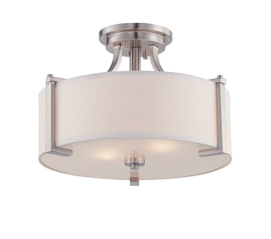 Designers Fountain 86211 Axel 2 Light Semi-Flush Ceiling Fixture Satin