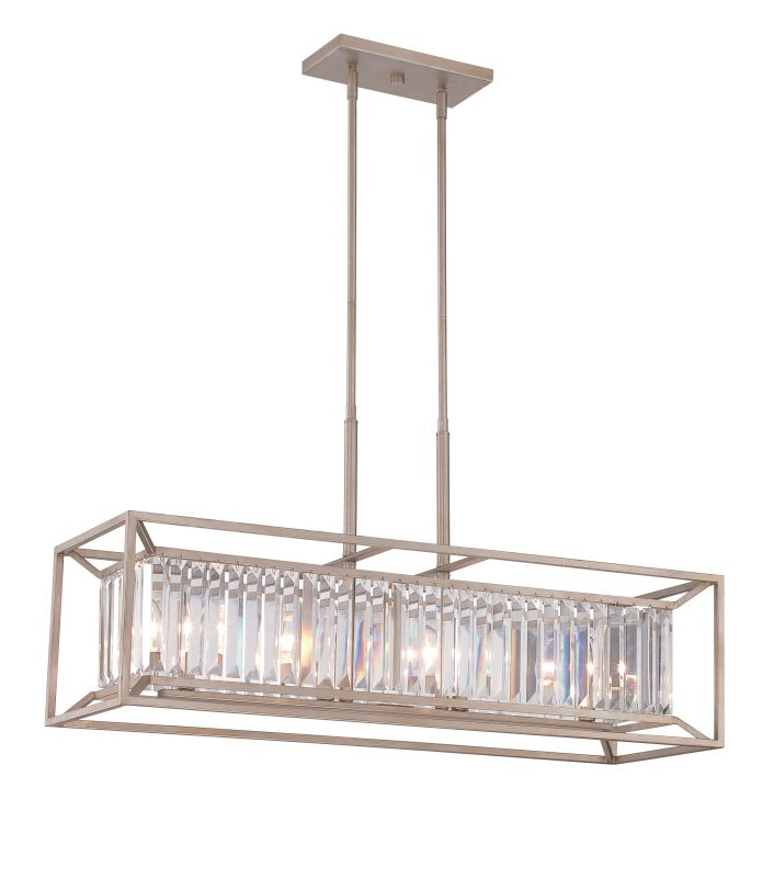 Designers Fountain 87438 Linares 4 Light 1 Tier Linear Chandelier Aged