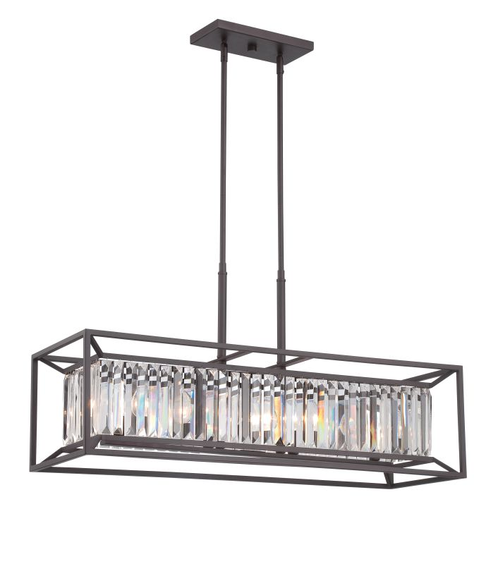 Designers Fountain 87438 Linares 4 Light 1 Tier Linear Chandelier