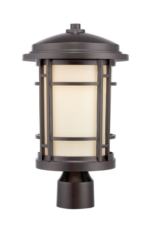 Designers Fountain LED22436 Barrister 1 Light LED Lantern Post Light
